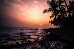 Big Island ,Hawaii (Rick Vega) Tags: nature beach pacific photography photo landscape 1116tokina d7000 nikon colors ocean water sunset kona bigisland hawaii
