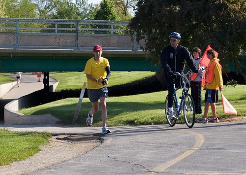 Rob at mile 11 of Rockford Marathon