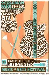 Danny Salazar at Flatrock Festival poster