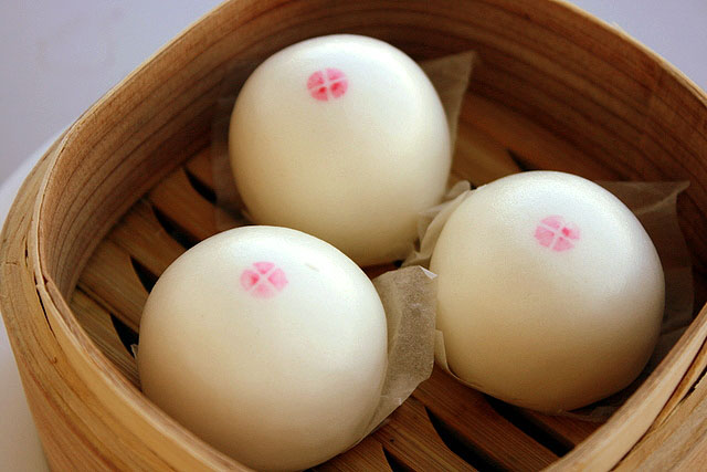 Steamed Lotus Paste Bun with Egg Yolk