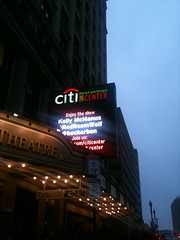 Twitter name on the maquee (brokentrinkets) Tags: boston marquee theatre citicenter theatredistrict twitter wangcenter