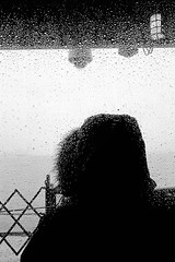 Ferry (Hunchentoot) Tags: leicam7 kodaktrix agfarodinal 35mmsummicronm blackandwhite bw sw schwarzweis analog film leica m7 rangefinder messucher kleinbild kodak trix 2010 agfa rodinal summicron newyorkcity nyc usa america amerika newyork rain regen water wasser fenster window ferry fhre statenislandferry back rcken lamp lampe sea meer ozean ocean ediweitz weitz edmundweitz traffic bwfp