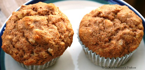 Honey Wheat Banana Muffins