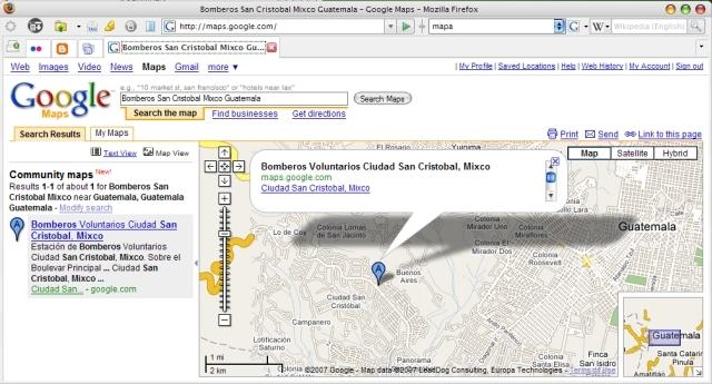 Google maps Guatemala