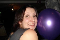 Me and a purple balloon!