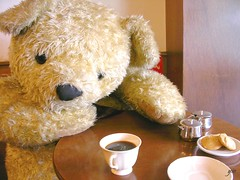 afternoon tea, bear really waitting for you