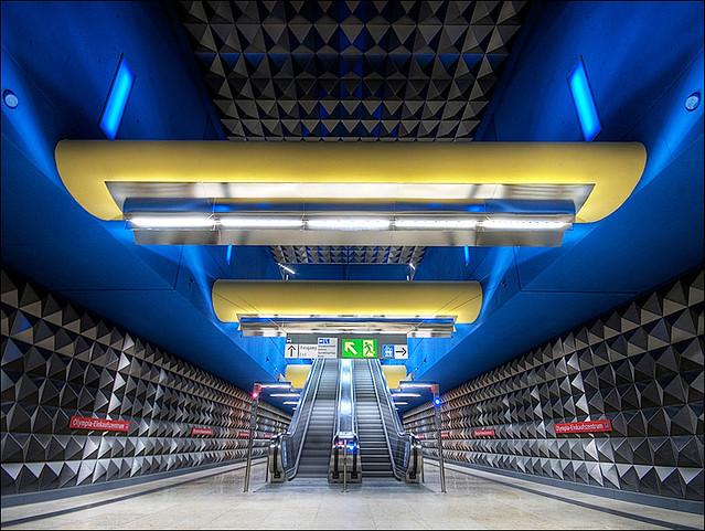 The subwaystation OEZ (Olympia-Einkaufszentrum)