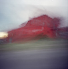 Can't beat my meat (nicolai_g) Tags: color film barn blurry moo spacetime