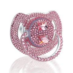 Aristabrat Pink Panther baby pacifer with Swarovski Crystals