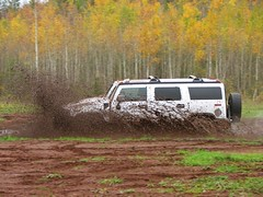 Mud Run Fun (Micky**) Tags: autumn red white fall minnesota truck fun micky mud dirt gilbert suv hummer ironore ohvpark zlimen gilbertohvpark