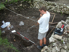 Paul Everill recording trench at Nokalakevi