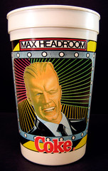Coke Max Headroom Cup (Neato Coolville) Tags: coke 80s 1980s maxheadroom plasticcup