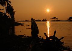 Kerala India Backwaters Sunset (Nostalgic T+ Allan) Tags: sunset india kerala backwaters riceboat