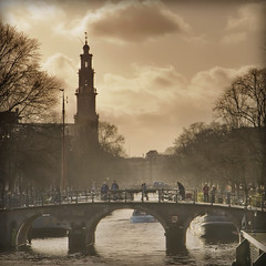 Amsterdam (siebe ) Tags: bridge holland church dutch amsterdam canal nederland thenetherlands brug tone kerk gracht westertoren westerkerk themoulinrouge abigfave goldenphotographer amsterdamstock