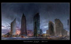 Berlin Potsdamer Platz (HDR Panorama) (d.r.i.p.) Tags: longexposure panorama berlin night germany deutschland lights nikon nightimages nacht widescreen drip potsdamerplatz architektur bluehour mitte 180 hdr hdri nachtaufnahme 18mm photomatix 10faves d80 hdrpanorama berlinhdr superaplus aplusphoto hdratnight vertorama hdraward paranormalpanorama