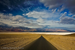 Road to Paradise Lost (Michael Pancier Photography) Tags: california red fab usa nature landscape desert roadtrip highways deathvalley badlands roads nationalparks soe saltflats fineartphotography naturephotography seor americansouthwest deathvalleynationalpark naturephotographer golddragon floridaphotographer badwaterroad michaelpancier michaelpancierphotography colorphotoaward angelsdrive wwwmichaelpancierphotographycom seorcohiba