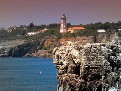Faro (Laureano Moreno) Tags: ocean blue sea costa lighthouse portugal water birds landscape faro high rocks natural pajaros boca phare cascais acantilado rocas infierno degradado mywinners abigfave platinumphoto