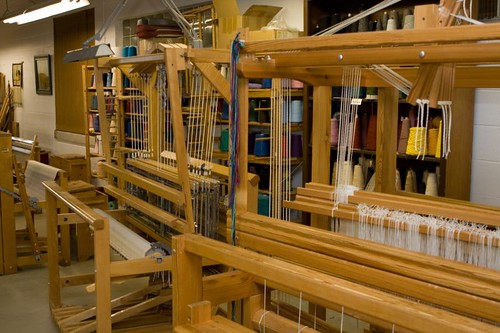 Floor Looms in Studio