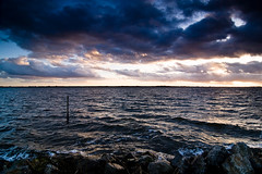 Rough Gooimeer (KennethVerburg.nl) Tags: sunset zonsondergang nederland saturday 2008 almere gooimeer februari zaterdag almerehaven gooimeerdijk