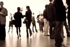 MoMA crowd
