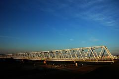 Blue Sky5 (U3K-Y) Tags: pictures bridge blue sky japan photo scenery iron   osaka