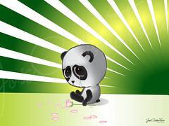 Ilustración Panda cry