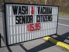 Wash & Vacuum Senior Citizens