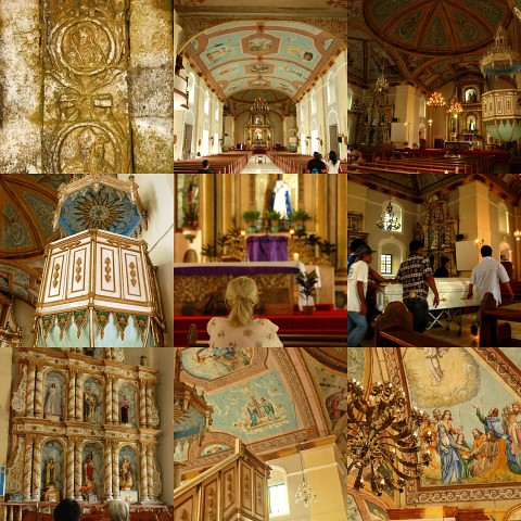 Loboc Church collage