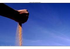 Creativity (Waseef Akhtar) Tags: blue sky creativity idea daylight sand day hand sony shaded sonydscs650
