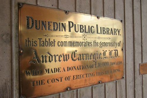 Plaque in Dunedin...