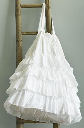 India Rose White Devils Laundry Bag