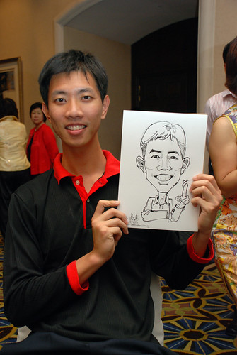 Caricature live sketching SIA Engineering 4