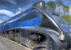 Sir Nigel Gresley (Vic Nic) Tags: station train nikon trains steam d200 railways goathland grosmont leveland