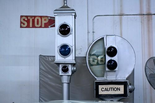 Vintage Stop/Go signs