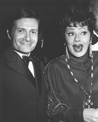 Jerry Herman and Lucille Ball.