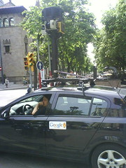 street view car in Barcelona