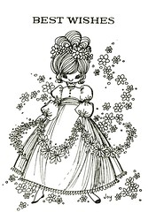 bestwishes (lorryx3) Tags: blackandwhite sketch joy 1970s bestwishes
