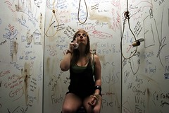 Thinking it over (Emmsy322) Tags: portrait tears suicide toilet hanging bog noose grafetti