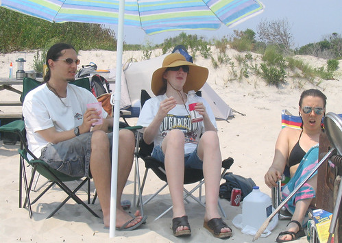 20070802-05 - Assateague Island beach camping - Greg & Nicole - sitting - (by Christian) - 1121445620_bdcca34987_o