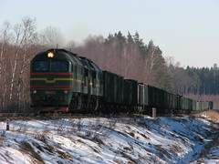 2M62-0721_VTII-99km (ЕгорЖуравлёв) Tags: 2m62 locomotive 2017 railway latvia railroad латвия поезд состав локомотив 2м62 0721 февраль зима железнаядорога