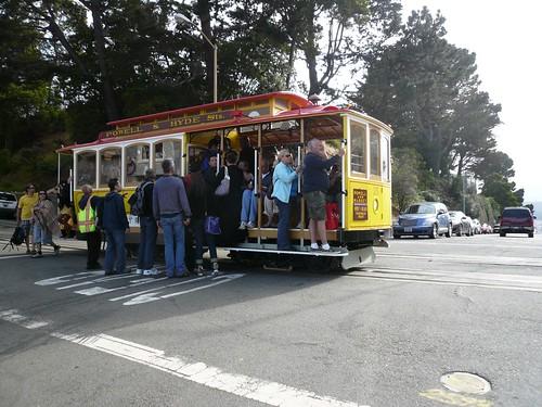 classic san fran cable car