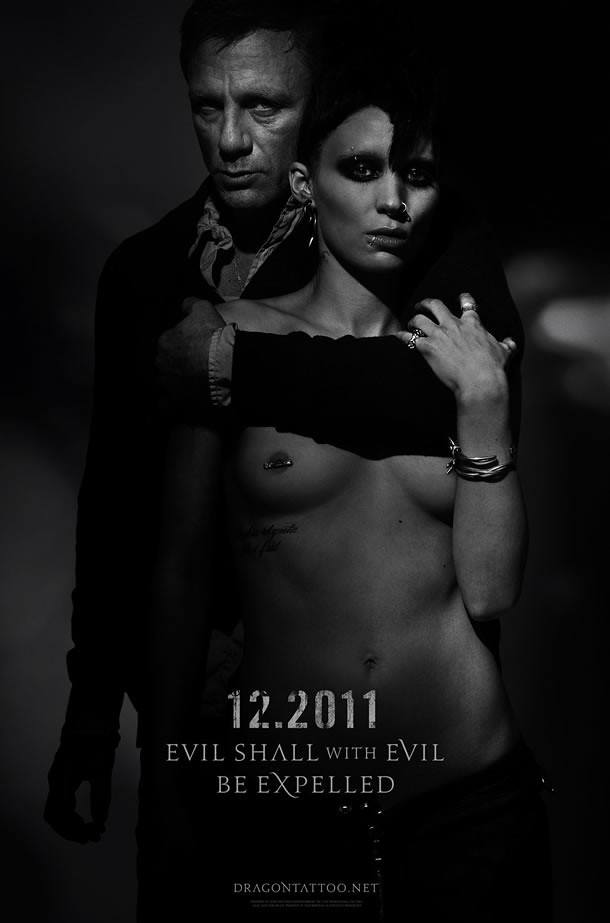 Uncensored David Fincher's Girl With the Dragon Tattoo Poster
