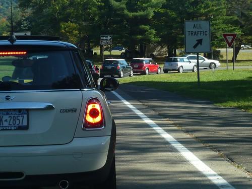 mini traffic jam