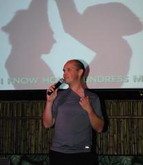 henrik on stage (rickr m) Tags: henrik hulahula seattleflickrmeetup brewsviews