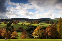 Autumnal walk (tricky (rick harrison)) Tags: autumn trees people orange house tree fall walking landscape golden amber district derbyshire peak stroll chatsworth upcoming goldenphotographer upcoming:event=268090