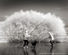 Run! (paul indigo) Tags: ocean storm wave run splash 10faves aplusphoto paulindigo promenda