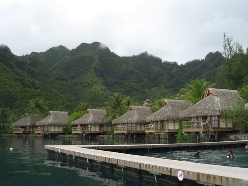 Before: Luxury bungalows on Moorea, French Polynesia
