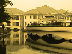 Intercontinental Hotel - Hanoi (Life in AsiaNZ) Tags: lake west building water sepia architecture canon reflections hotel g floating powershot vietnam series hotels hanoi 5star intercontinental 亚洲 越南 g9 gseries 东南亚 canong9 lifeinnanning flickrgiants