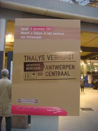 Thalys Announcment