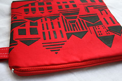 Red Pouch - Streetscape Print